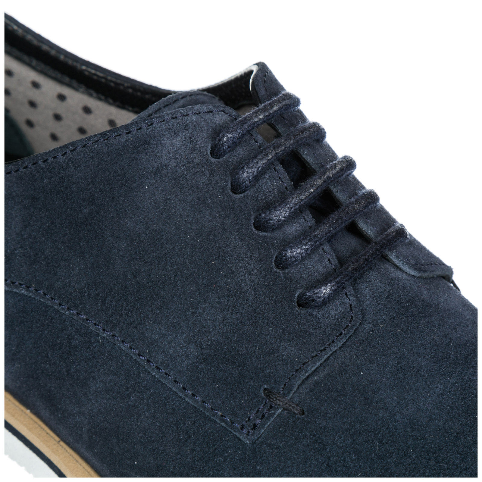 Men's classic suede lace up laced formal shoes derby h262