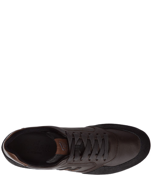 Men's shoes leather trainers sneakers olympia secondary image