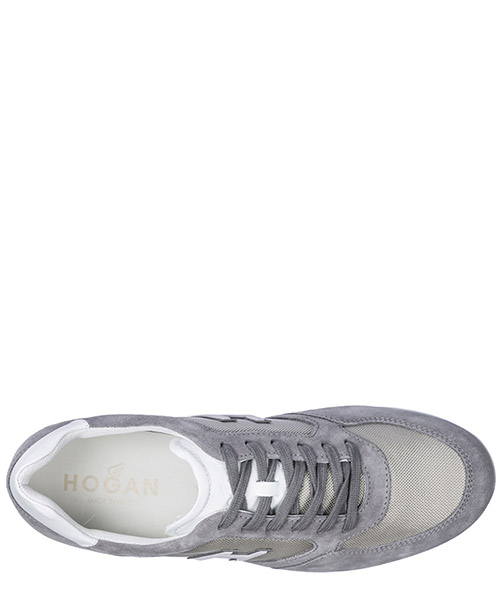 Men's shoes suede trainers sneakers olympia h205 secondary image