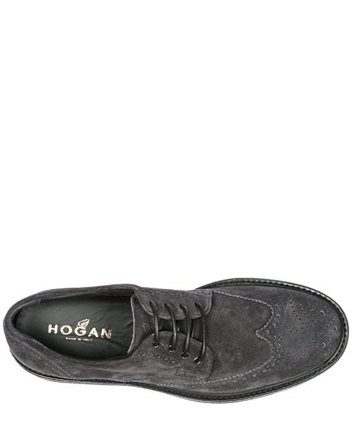 классические туфли на шнурках мужские замшевые derby h217 secondary image
