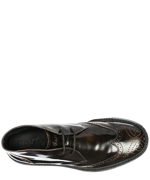 Polacchine stivaletti scarpe uomo pelle h217 route derby secondary image