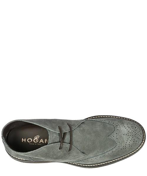 Polacchine stivaletti scarpe uomo camoscio h217 route secondary image
