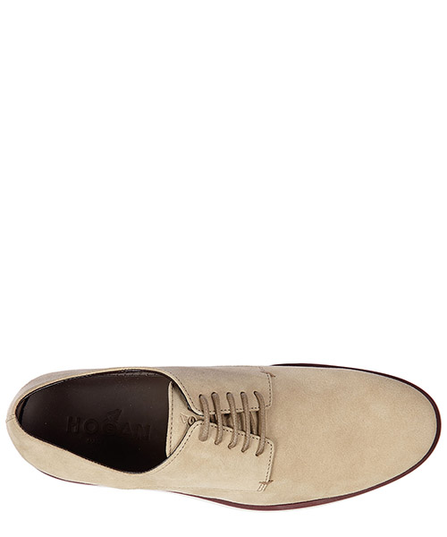 Men's classic suede lace up laced formal shoes derby h 262 corda secondary image
