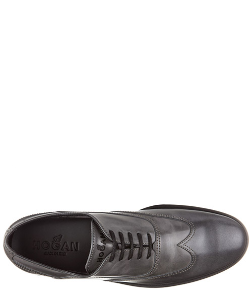 Men's classic leather lace up laced formal shoes oxford h262 francesina secondary image
