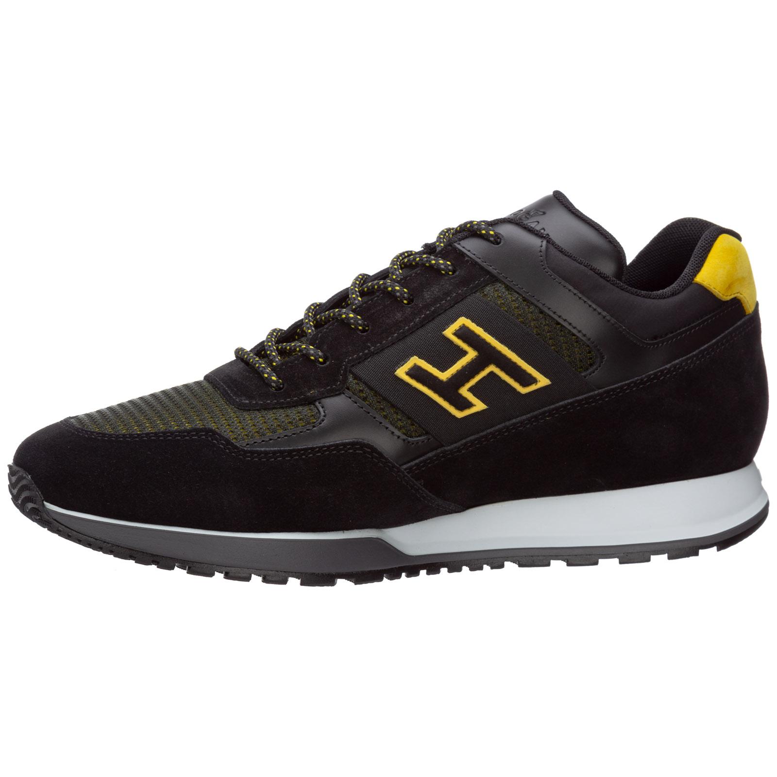 Scarpe sneakers uomo camoscio h321