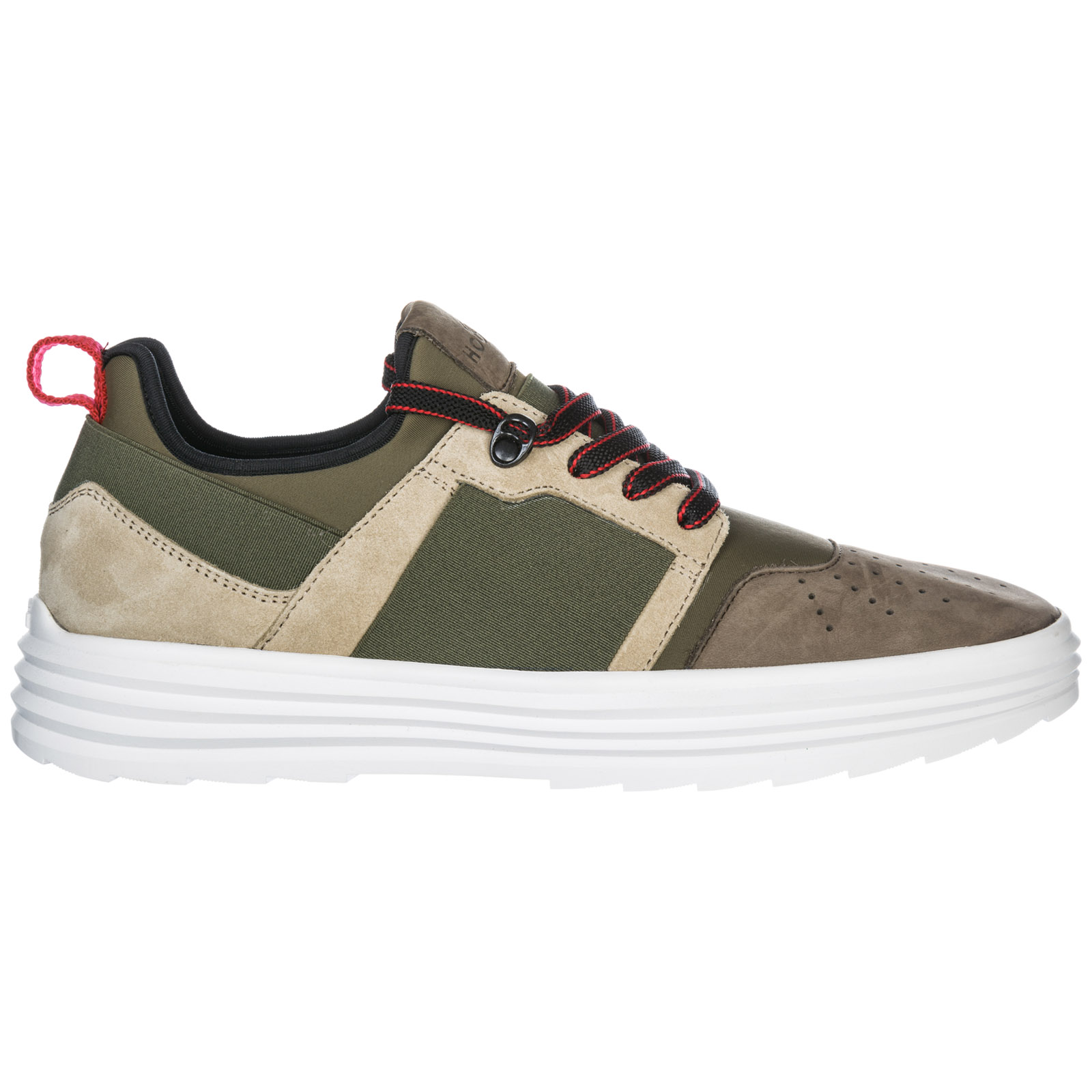 Hogan Men's Shoes Leather Trainers Sneakers Helix H341 In Green ...