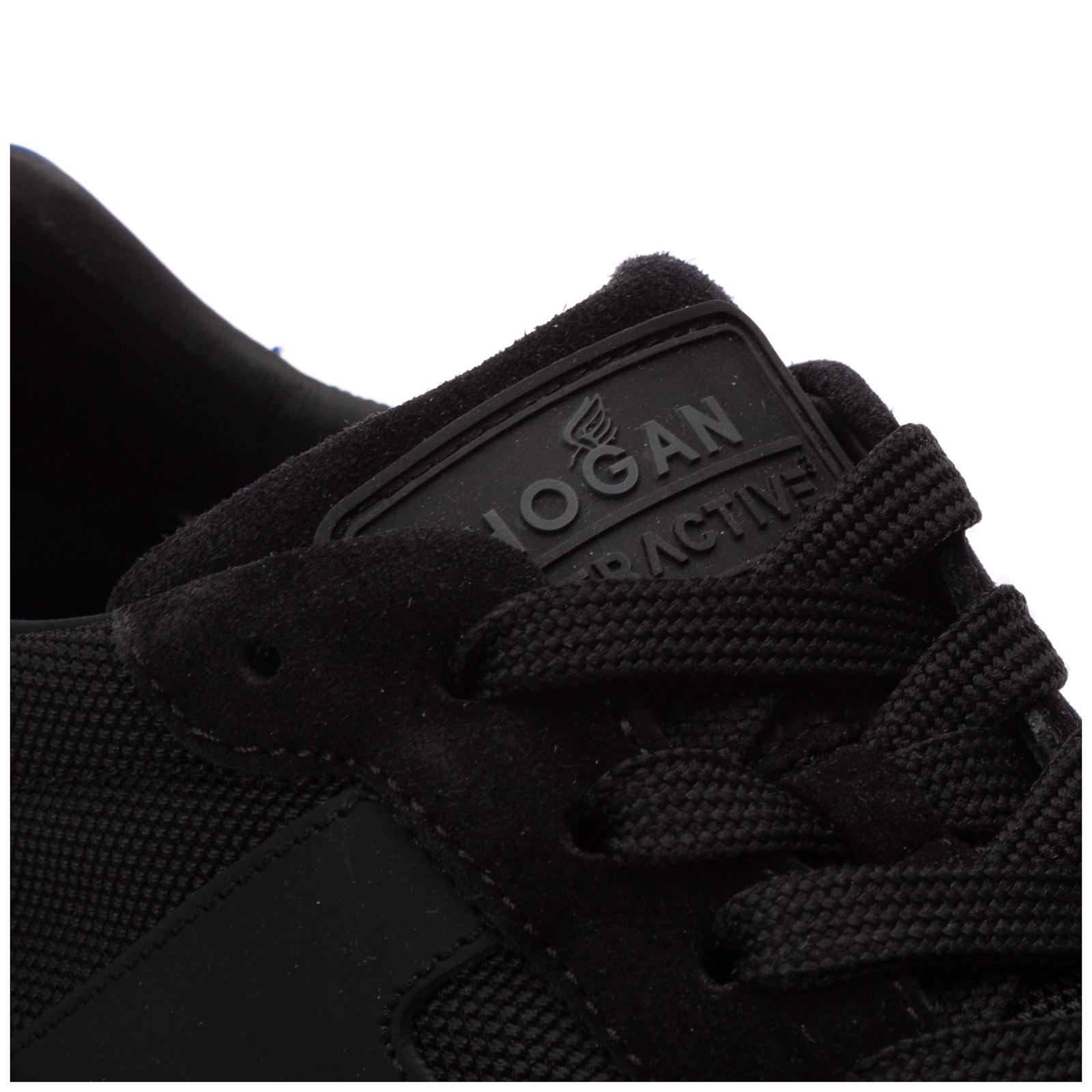 Hogan sneakers uomo interactive³ HXM3710AJ18N8D755H nero logo Pelle Scamosciata