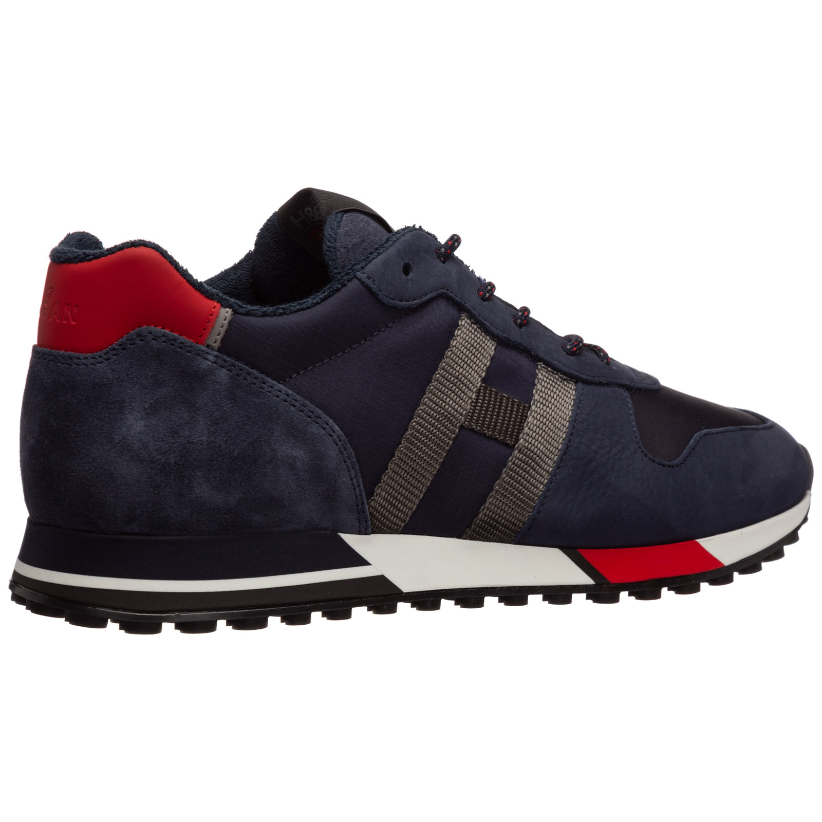 Men's shoes leather trainers sneakers h383
