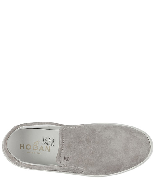 Slip on uomo in camoscio sneakers  h302 secondary image
