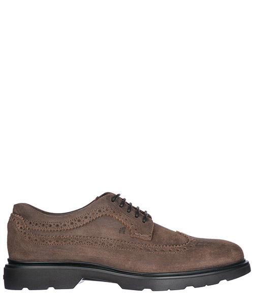 классические туфли на шнурках мужские кожаные h304 route derby