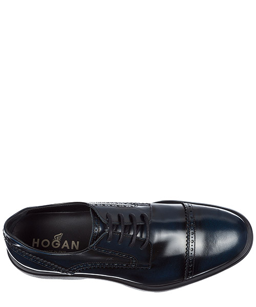 Men's classic leather lace up laced formal shoes h304 route derby secondary image