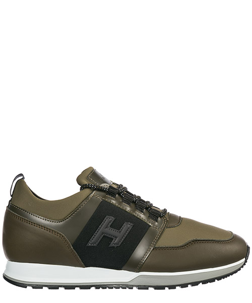 Men's shoes leather trainers sneakers h321