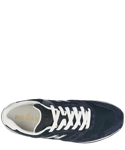 Men's shoes suede trainers sneakers h321 secondary image