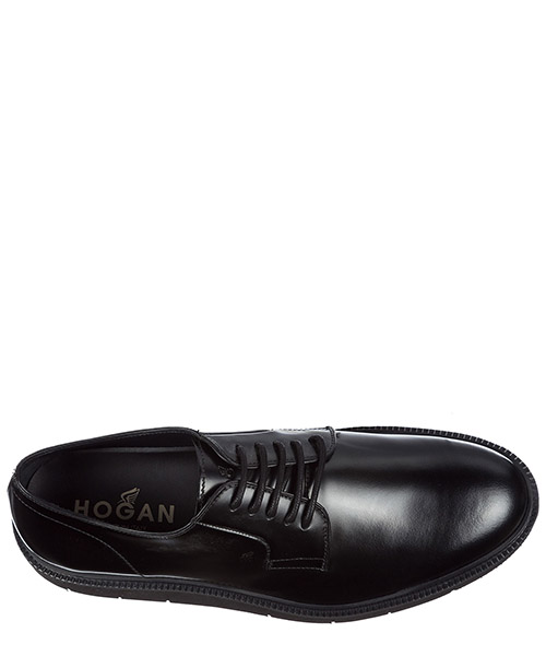 Men's classic leather lace up laced formal shoes h322 derby secondary image