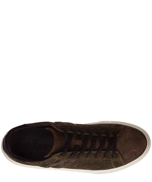 Men's shoes suede trainers sneakers h340 secondary image