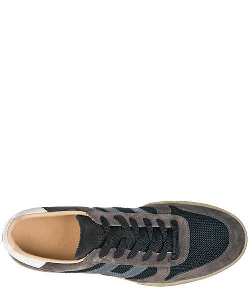 Men's shoes suede trainers sneakers h357 secondary image