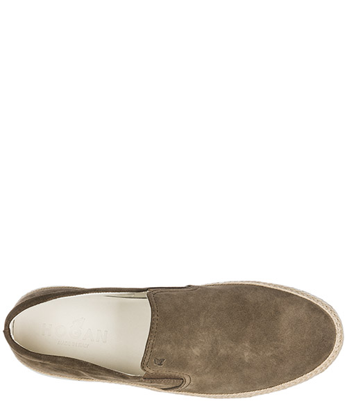 Slip on uomo in camoscio sneakers  h358 secondary image