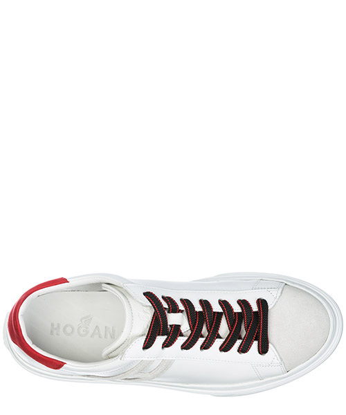 Men's shoes leather trainers sneakers h365 secondary image