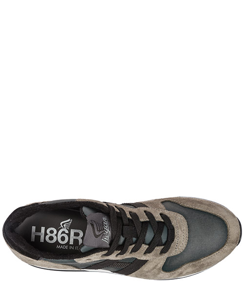 Men's shoes suede trainers sneakers h383 secondary image