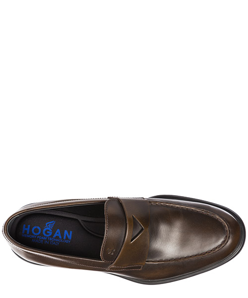 Men's leather loafers moccasins  h393 secondary image