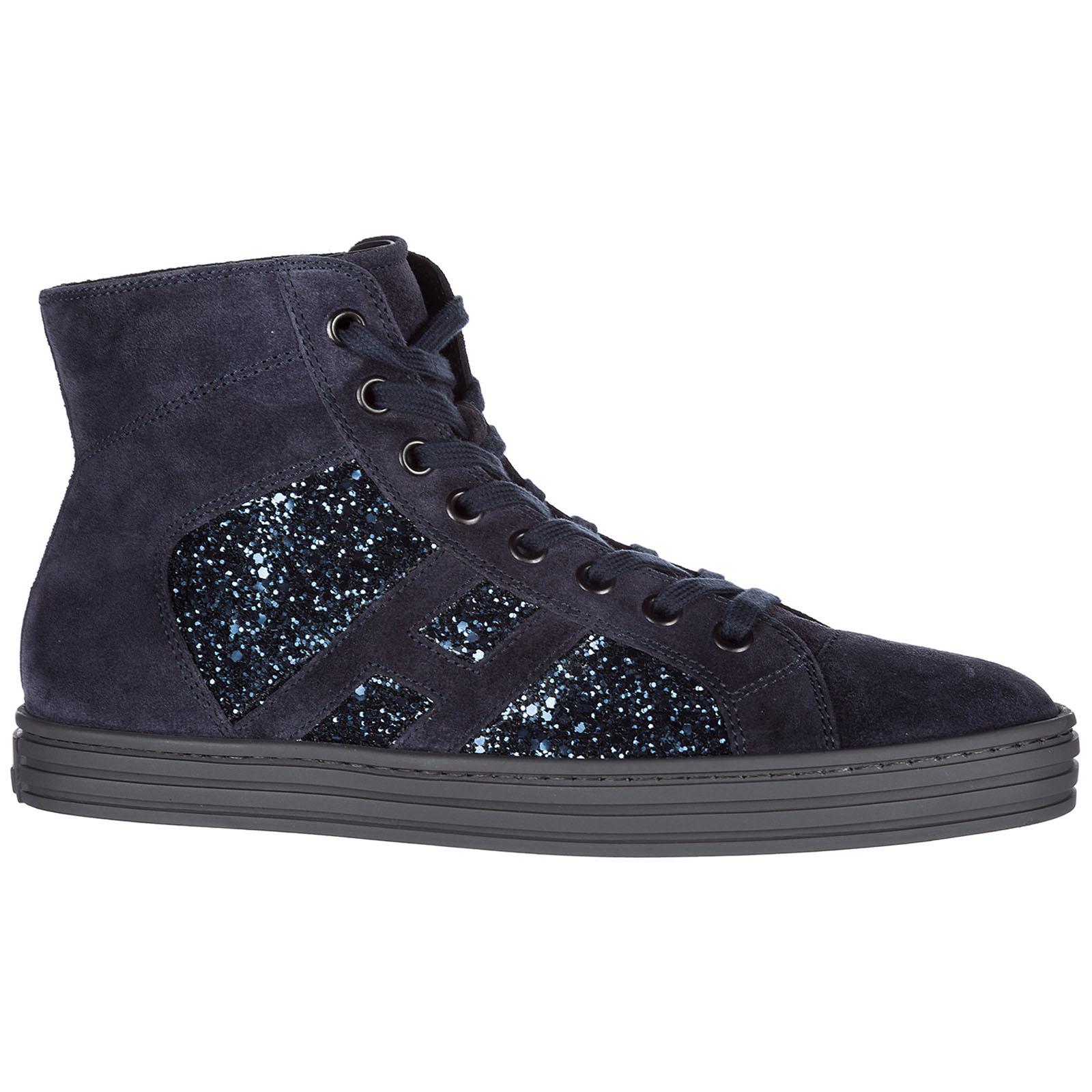 Chaussures enfant baskets hautes sneakers filles en daim r141