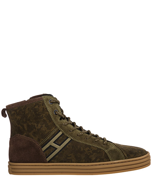 High-top sneakers Hogan R141 HXR1410Z450HCU9AZ9 verde