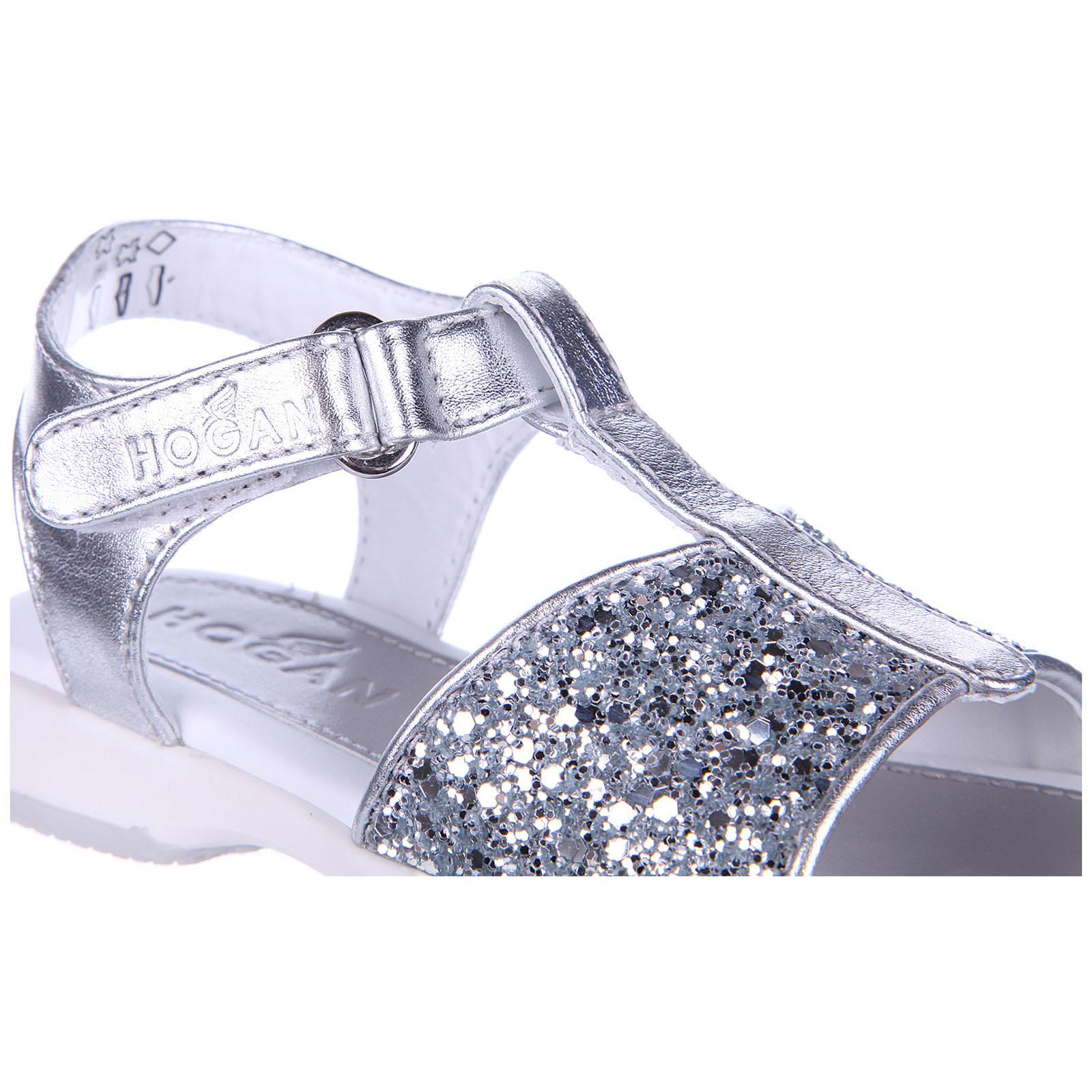Sandales filles en cuir enfant j093 glitter Hogan t8Gq8