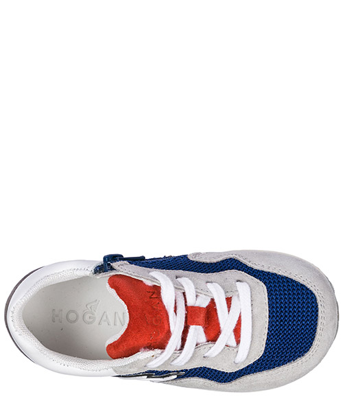 Chaussures baskets sneakers garçon en daim interactive secondary image
