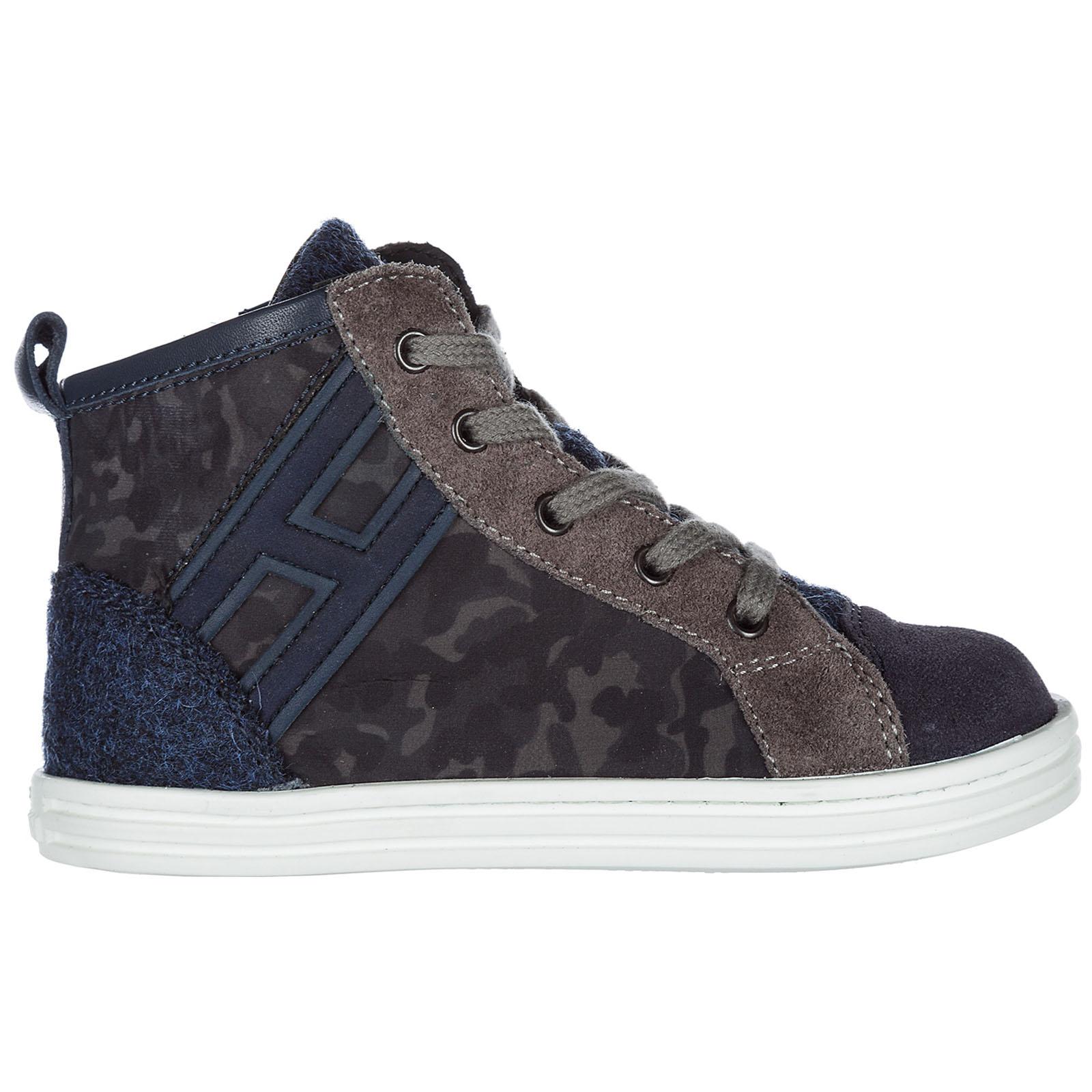 High top sneakers Hogan R141 HXT1410Z450HLHB892 grigio  fa4afd287c4