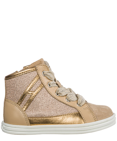 High-top sneakers Hogan R141 HXT1410K210ICL0KLR beige
