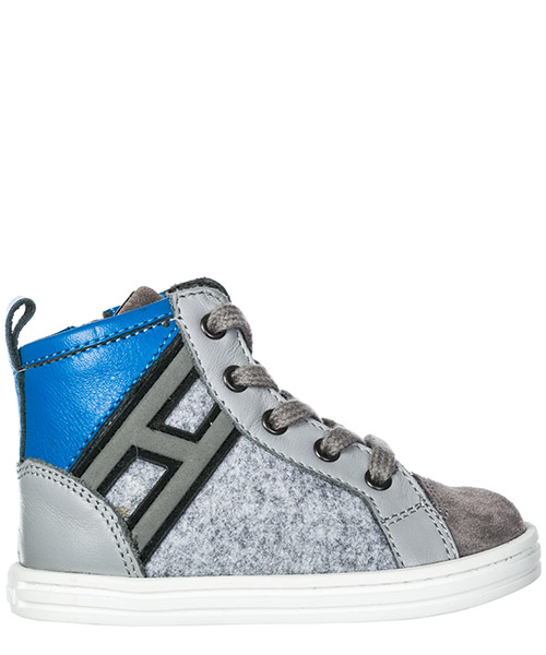 High top sneakers Hogan R141 HXT1410Z450HB6638Q grigio