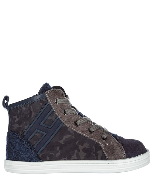 Sneaker high Hogan R141 HXT1410Z450HLHB892 grigio