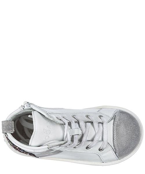 Scarpe sneakers bimba bambina alte pelle r141 secondary image