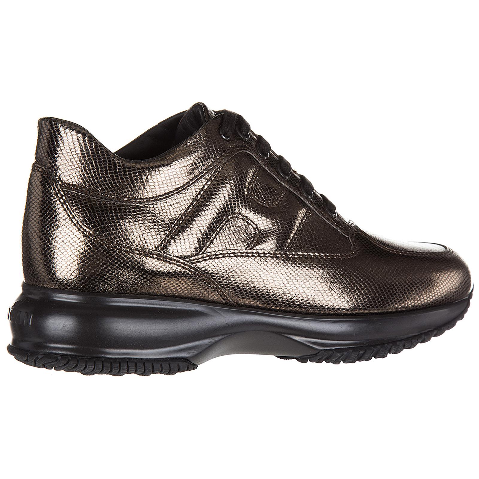 dfb5ae351b0f5 ... Scarpe sneakers donna in pelle interactive allacciata ...