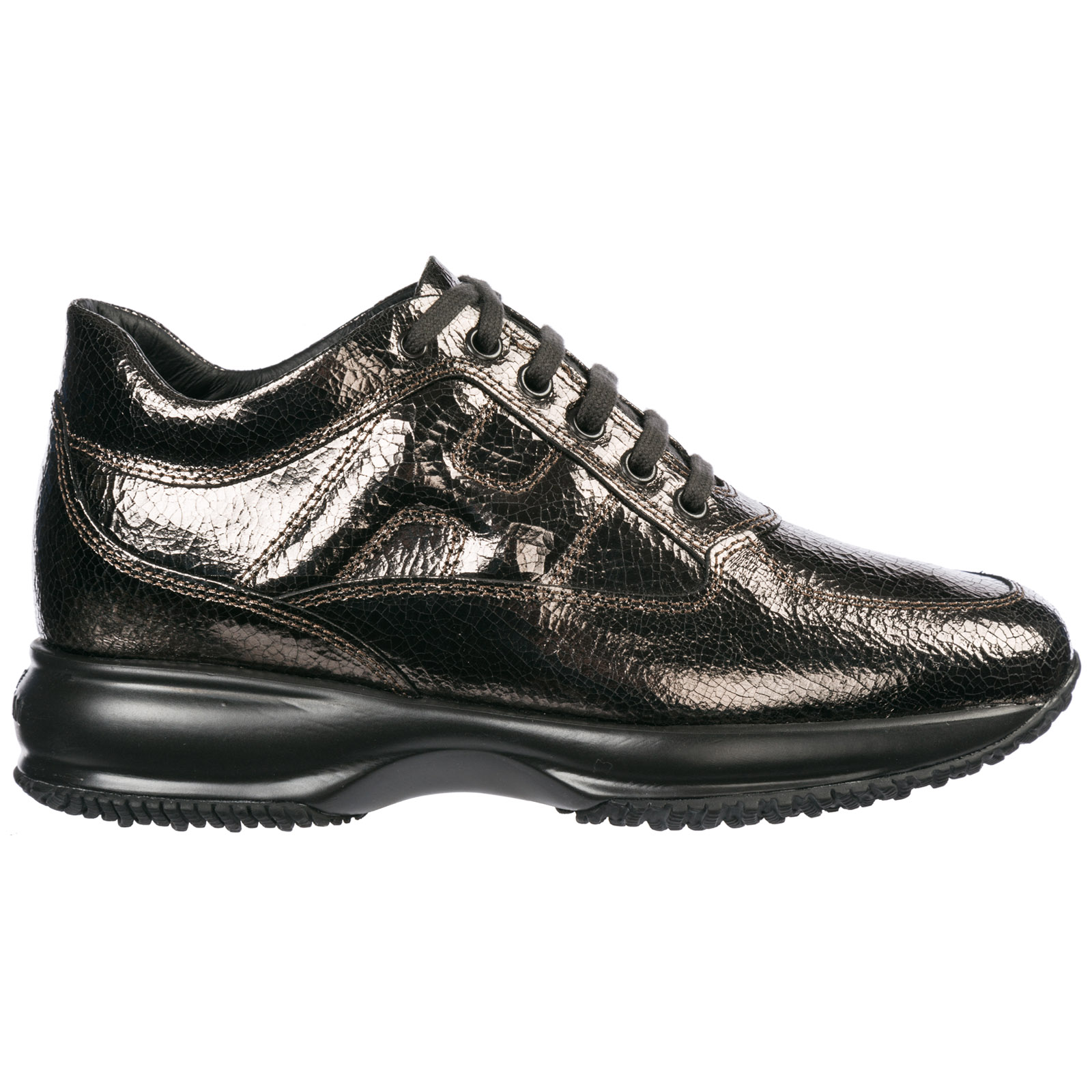 Hogan Women s shoes leather trainers sneakers interactive e8c50f04ecb