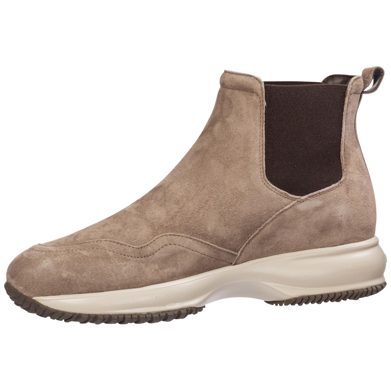 Damen Wildleder Stiefeletten Stiefel Ankle Boots Interactive In Brown