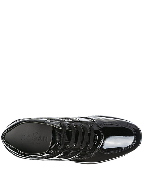 Chaussures baskets sneakers femme en cuir interactive secondary image