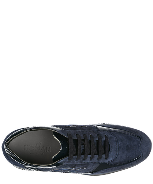 Chaussures baskets sneakers femme en daim interactive secondary image