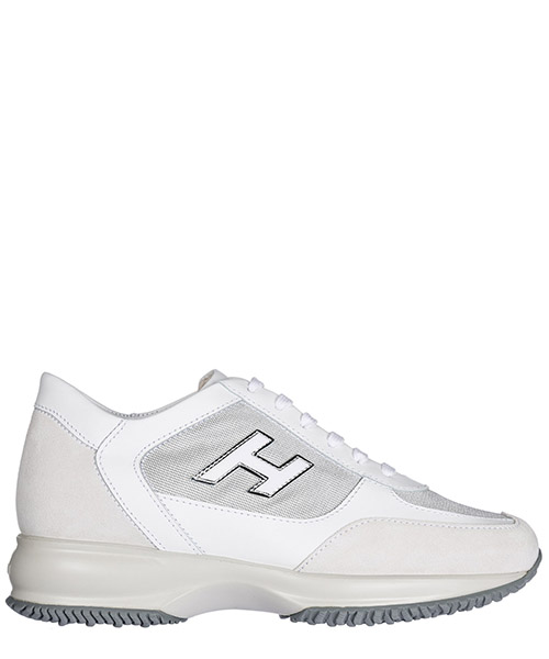 Sneakers Hogan Interactive HXW00N03242I960906 argento bianco