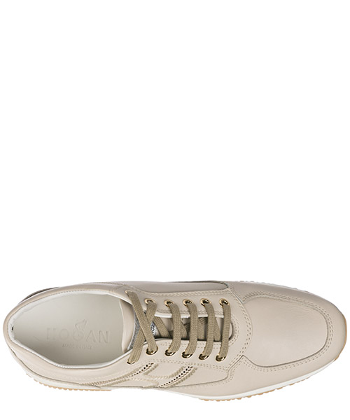 Women's shoes leather trainers sneakers interactive secondary image