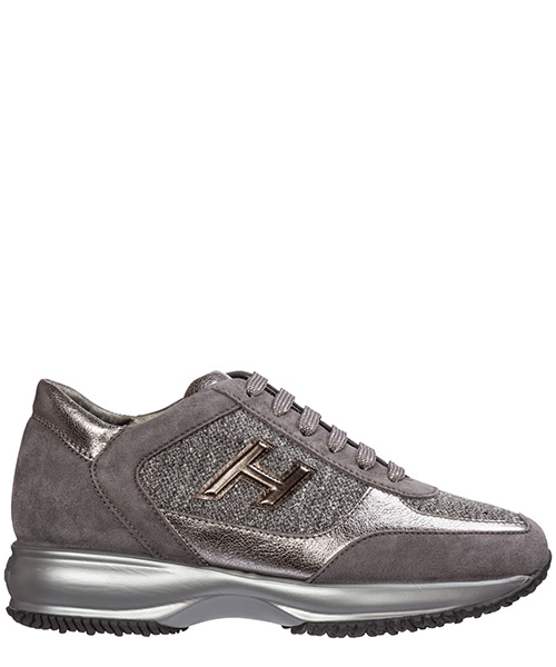 Sneakers Hogan interactive hxw00n0bh50lkb413a argento scuro