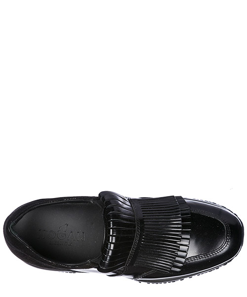 Slip on donna in pelle sneakers  interactive secondary image