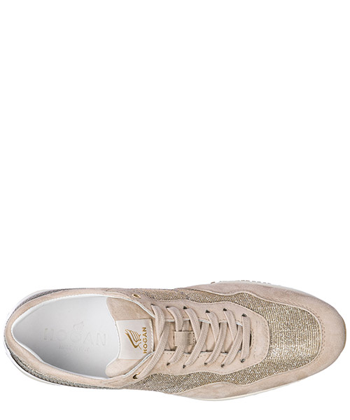 Women's shoes suede trainers sneakers interactive secondary image