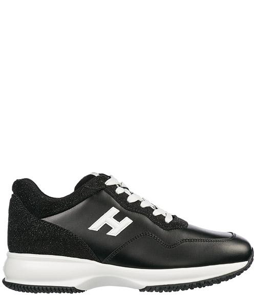 Sneakers Hogan Interactive HXW00N0W660JDV0002 nero Scarpe sneakers donna ... 4769c558345