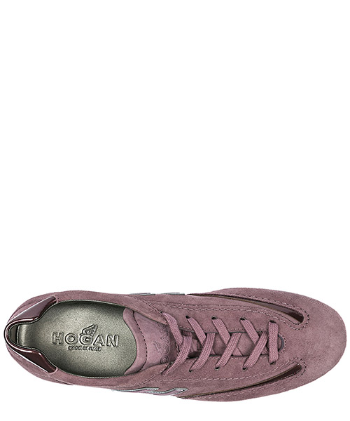 Women's shoes suede trainers sneakers olympia h flock secondary image