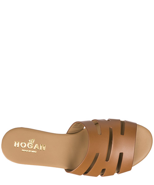 Mules sandales chaussons femme en cuir valencia secondary image