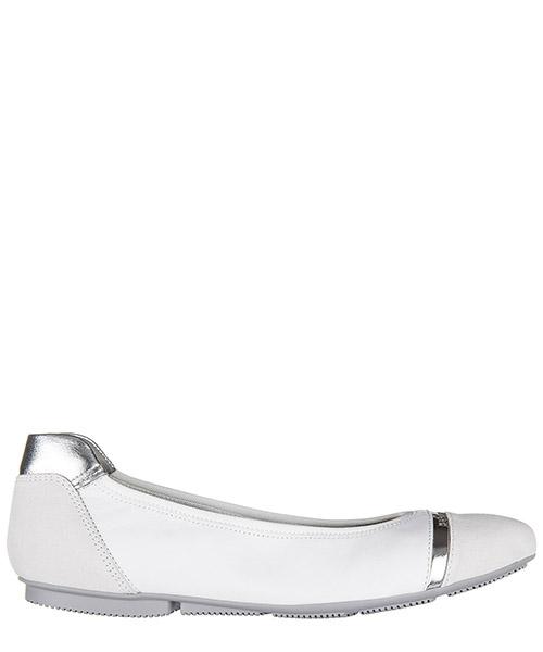 Ballet flats Hogan HXW144071245CD0351 argento bianco