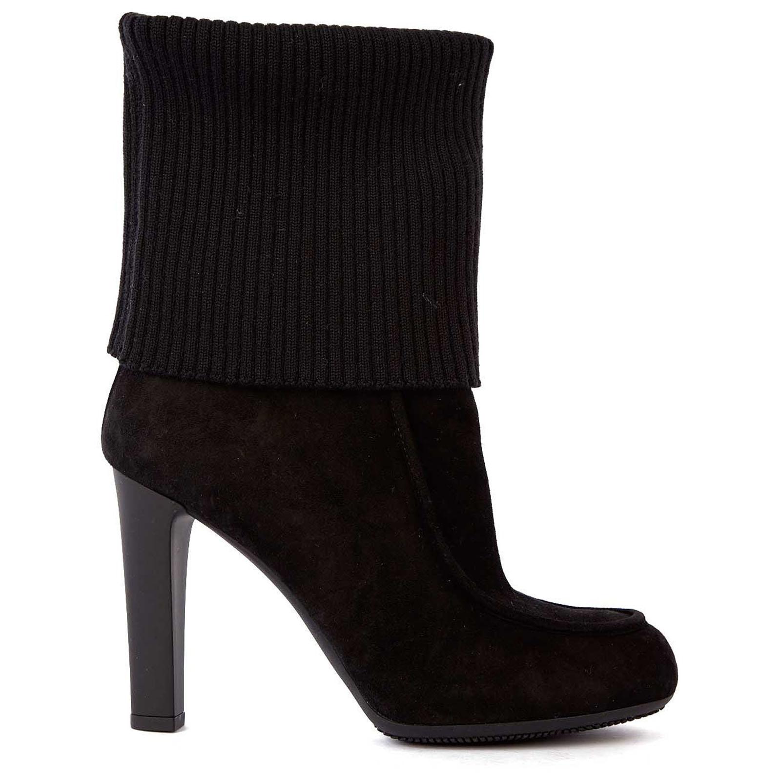 Stivaletti stivali donna con tacco camocio h220 lana