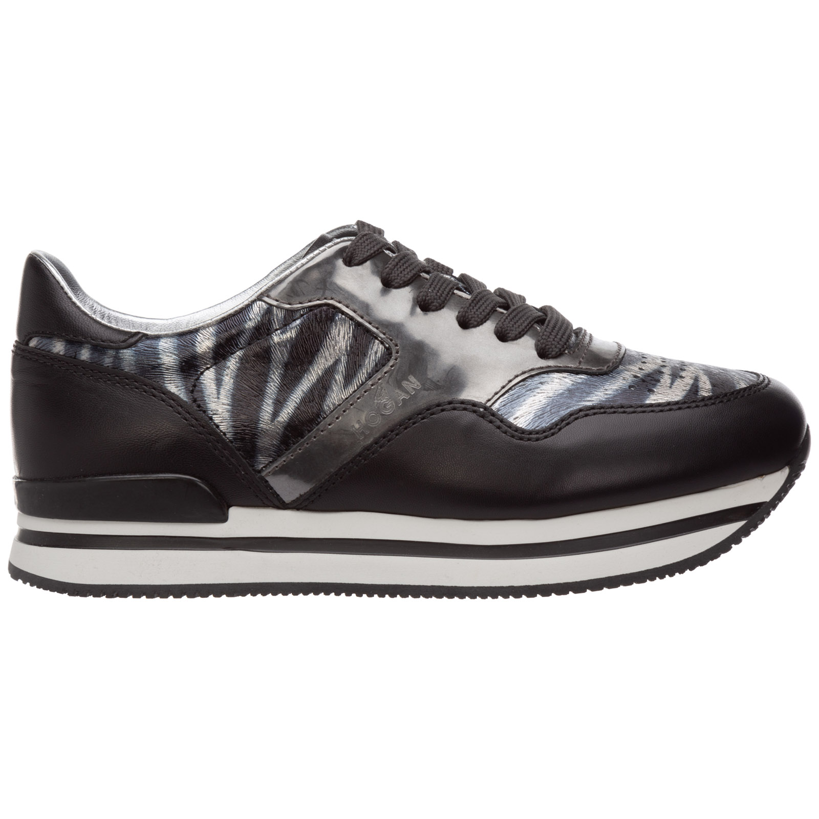 Women's shoes leather trainers sneakers h222