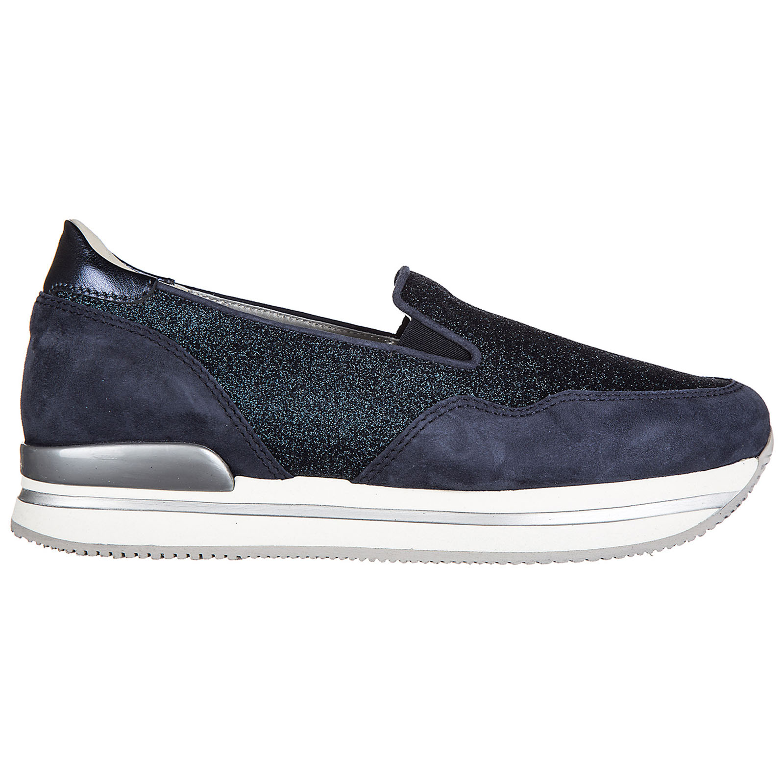 Slip on donna in camoscio sneakers h222 pantofola